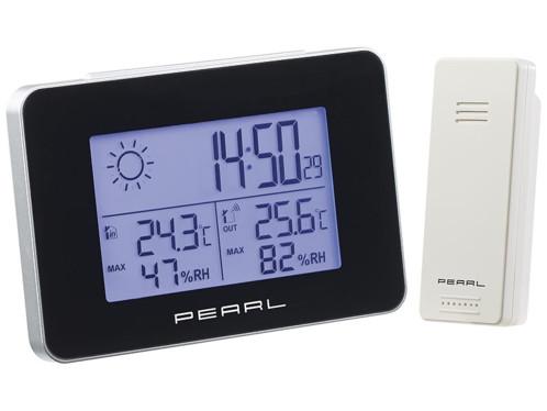 Station météo & horloge radio-pilotée avec capteur extérieur sans fil