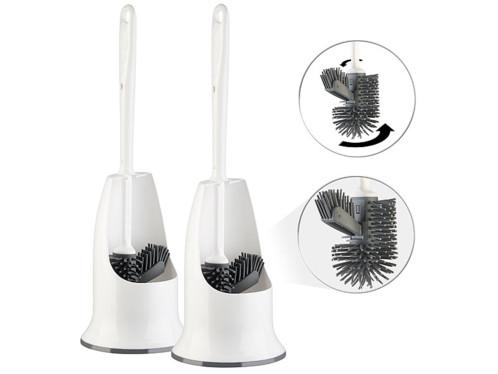 2 brosses WC en silicone à tête remplaçable WG-90