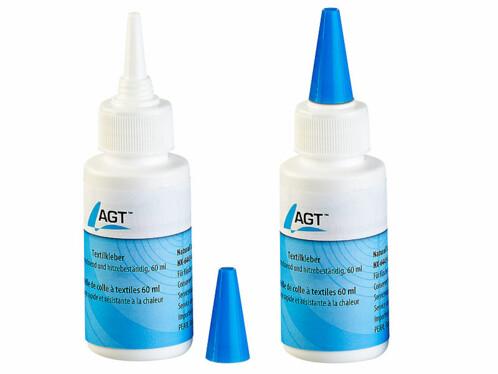 Pack de 2 bouteilles de colle textiles AGT de 60 ml.