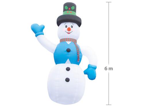 Bonhomme de neige géant avec gonflage automatique – 6 mètres