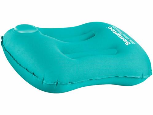 coussin gonflable de camping bivouac avec pompe integrée couleur bleu semptec