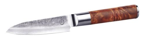 Couteau de chef avec lame en acier Damas 12,7cm et coffret en bois