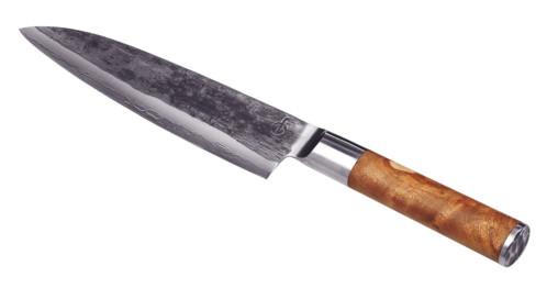 Couteau de chef Damas avec son coffret en bois - 20,7cm