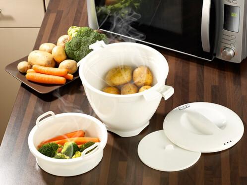 Cuiseur vapeur pour micro ondes cuisson vapeur for Cuisson legumes au micro ondes