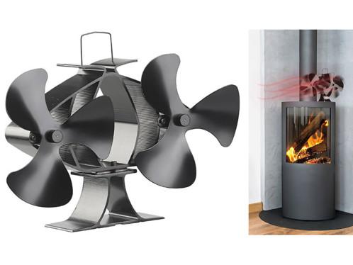 Double ventilateur-répartiteur pour poêle de 65 °C à 345 °C (reconditionné)