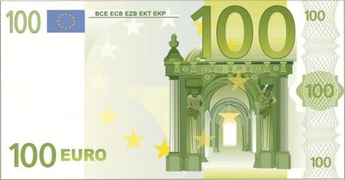 Drap de bain microfibre design billet de 100 € - 180 x 90 cm