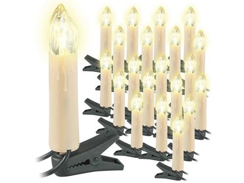 Guirlande de 20 bougies à LED pour sapin de Noël