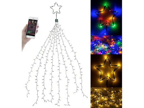 Guirlande lumineuse effet cascade pour sapin de Noël, 320 LED, avec bluetooth & application