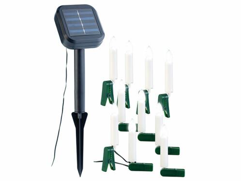 Guirlande lumineuse solaire à 10 bougies LED
