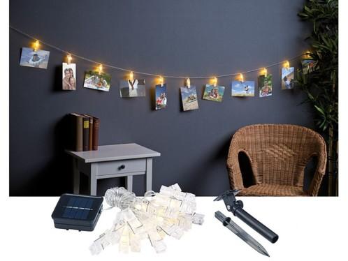 Guirlande lumineuse led avec pinces pour suspension photos - Guirlande porte photo avec pinces linge ...