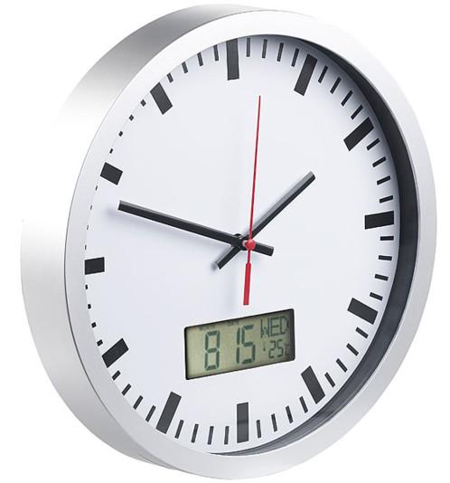 horloge ronde analogique et digitale avec iindication date jour et température st leonhard