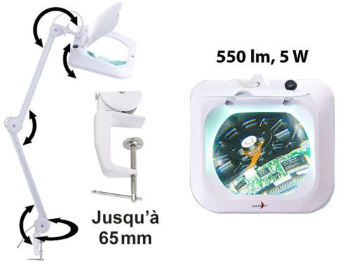 Lampe-loupe professionnelle 5 W Lunartec