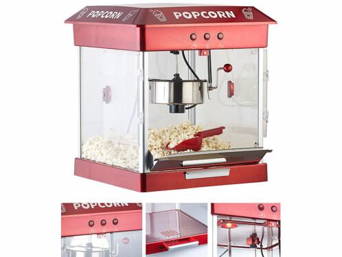 Machine à pop-corn 800 W avec cuve en acier inoxydable