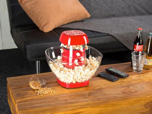 machine a pop corn automatique 1200w a air chaud avec saladier bac collecteur