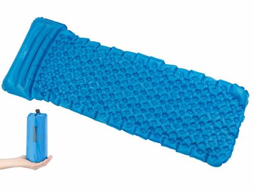 Matelas gonflable léger avec oreiller intégré - Turquoise