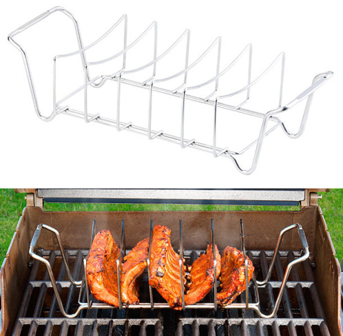 support de cussion pour travers de porc ribs cotelettes cuisson au barbecue
