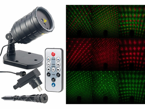 Projecteur laser 3 effets stellaires - Avec télécommande