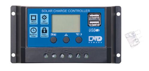 Régulateur de charge de panneau solaire pour batterie 12v 24 V avec module de chargement PWM avec 2 ports USB, intensité 10 A revolt