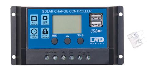 Régulateur de charge de panneau solaire avec 2x USB - 20 A