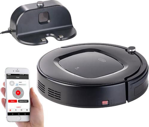 robot nettoyeur aspirant avec contr le par application pcr 2000. Black Bedroom Furniture Sets. Home Design Ideas