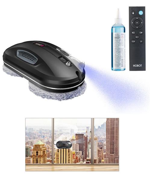 Robot nettoyeur de vitres à fonction Bluetooth et pulvérisation : PR-200