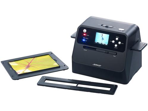 scanner a diaposotives portable 14mpx pour diapo 50mm et pellicules 110 126 135 avec slot carte sd SD-1600 somikon