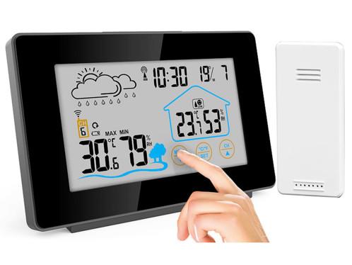 Station météo sans fil avec capteur extérieur et écran tactile couleur FWS-265
