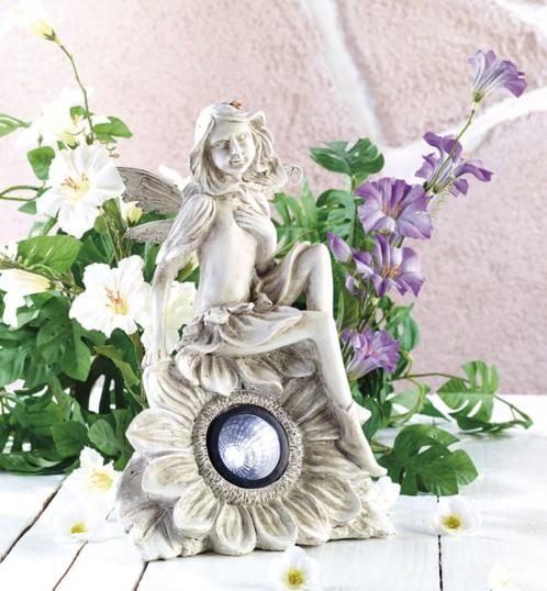 D coration lumineuse solaire de jardin forme statue de for Deco jardin solaire