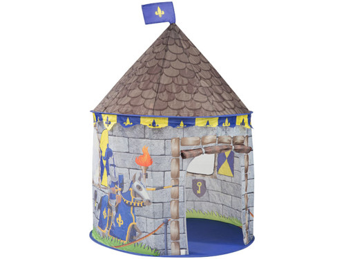 """Tente de jeu """"Château"""" avec porte et fenêtres par Infactory."""