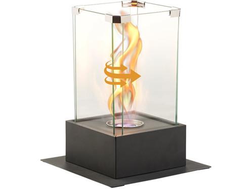 Torche décorative au bio-éthanol, effet tornade, jusqu'à 60 min. de combustion