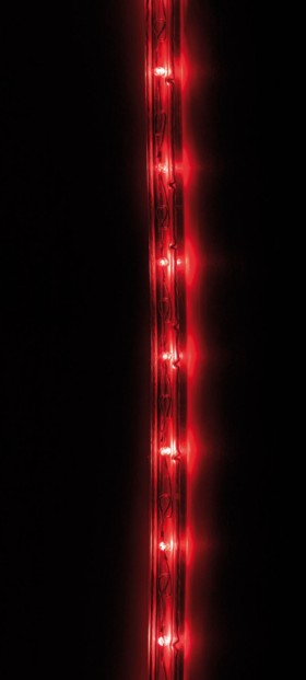 Tube LED pour intérieur et extérieur - 10 m - rouge
