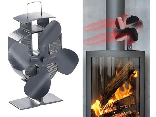 Ventilateur répartiteur thermoélectrique pour poêle, 4 pales, 60 350 °C