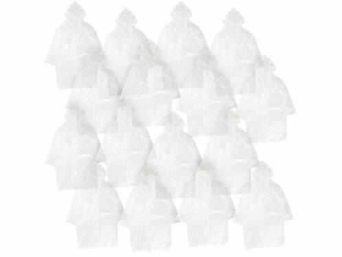16longs manteaux de pluie à capuche, coloris transparent