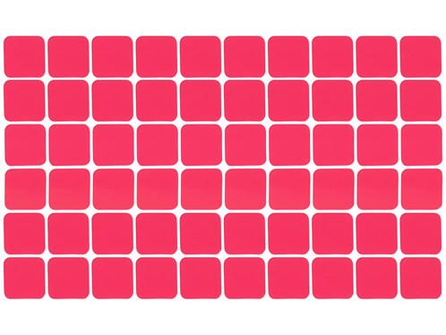 Set de 60 patchs adhésifs double face, 25 x 25