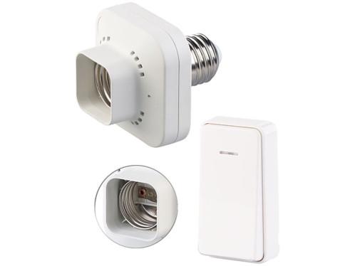Adaptateur de douille E27 / 60 W + interrupteur cinétique petit modèle KFS-100.S