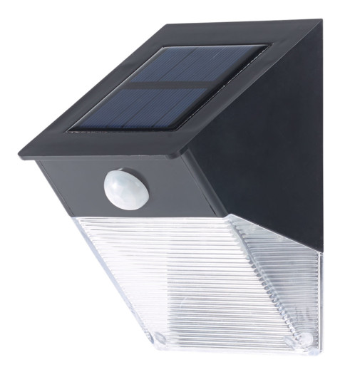 lampe murale solaire led 6w pour jardin avec d tecteur pir. Black Bedroom Furniture Sets. Home Design Ideas