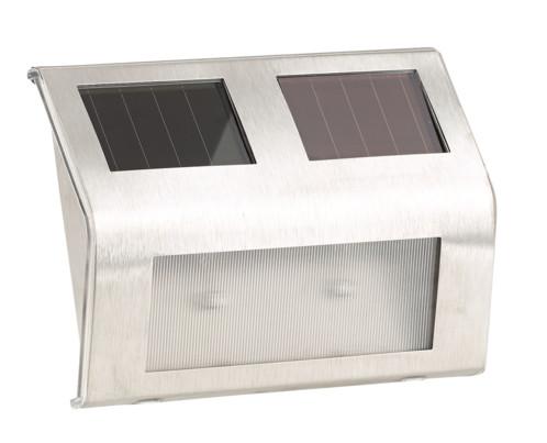 Lampe murale led solaire avec bo tier tanche en inox for Applique murale exterieur solaire