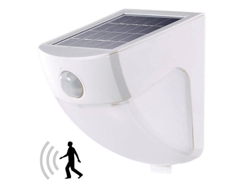 applique murale automatique avec chargeur solaire et detecteur de luminosité blanc lunartec