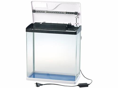 Aquarium complet avec pompe, filtre et éclairage LED - 25 L