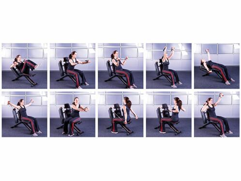 banc de musculation modulable pour bras abdos et jambes. Black Bedroom Furniture Sets. Home Design Ideas