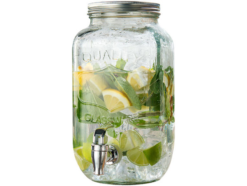 """Carafe distributeur de boisson en verre """"Quality"""" - 3,5 L"""