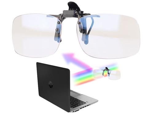 Clip sur-lunettes anti lumière bleue + UV 400