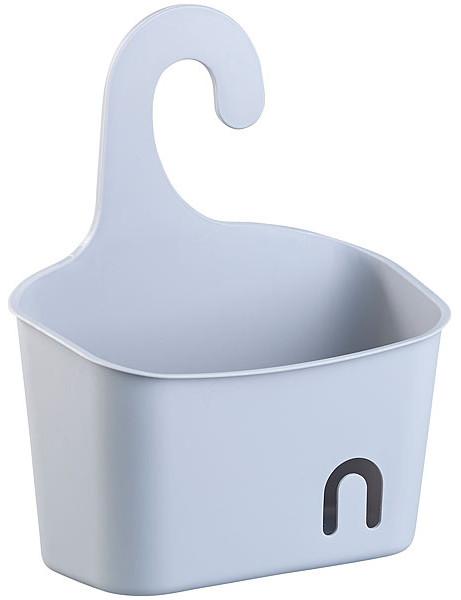 Corbeille de douche extensible avec crochet, coloris gris