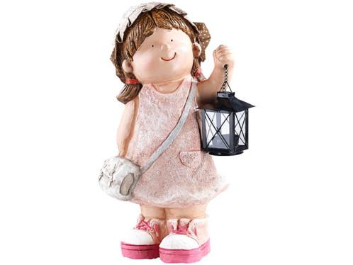 Figurine décorative Petite Anne avec lanterne