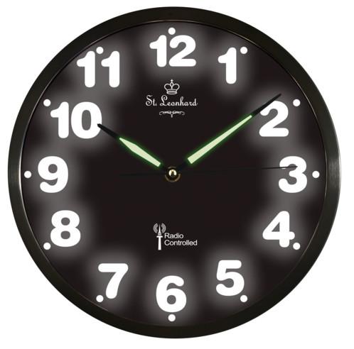 Horloge Murale avec la Date Noir