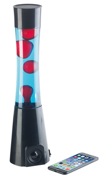 Lampe Lava Rouge Bleu Avec Enceinte Bluetooth 10w Integree Pearl Fr