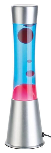lampe lava à lave liquide bleu cire rouge deco retro 80