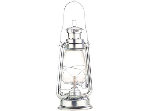 veritable lampe a petrole retro style marins avec flamme reglable et reservoir 270 ml couleur argent zinc 30 cm