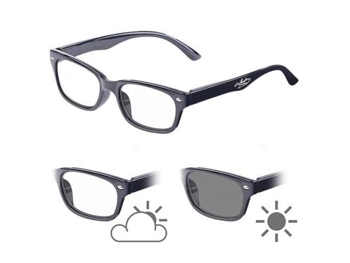Lunettes de lecture avec verres à teinte variable et protection UV 400, +1.0 dpt