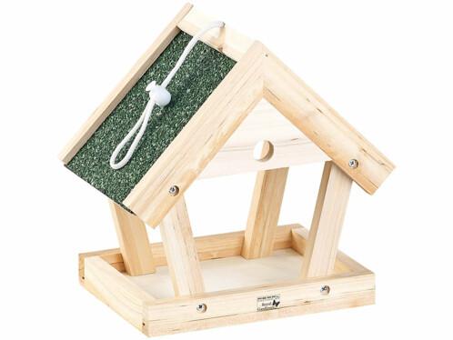 Mangeoire à oiseaux à suspendre en bois, à assembler - 13 pièces
